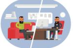 Télétravail ou travail en entreprise - Shutterstock
